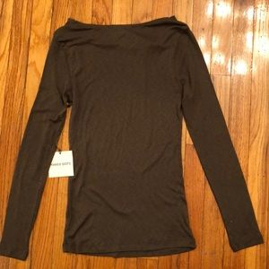 NWT Three Dot Long Sleeve Drape T-Shirt